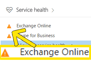 are there any office 365 service health problems