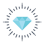 Your business data systems and time are valueable just like this diamond.