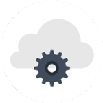Folder with gear icon in center for proactive IT service management.