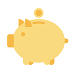 A piggy bank signifying flat rates for affordable and cost effective backup continuity.